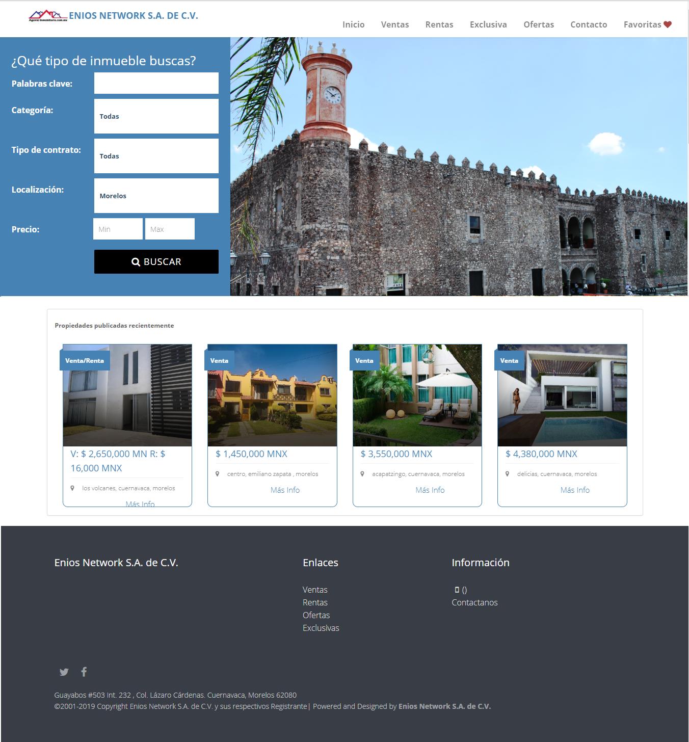 Aplicación de administación de propiedades
